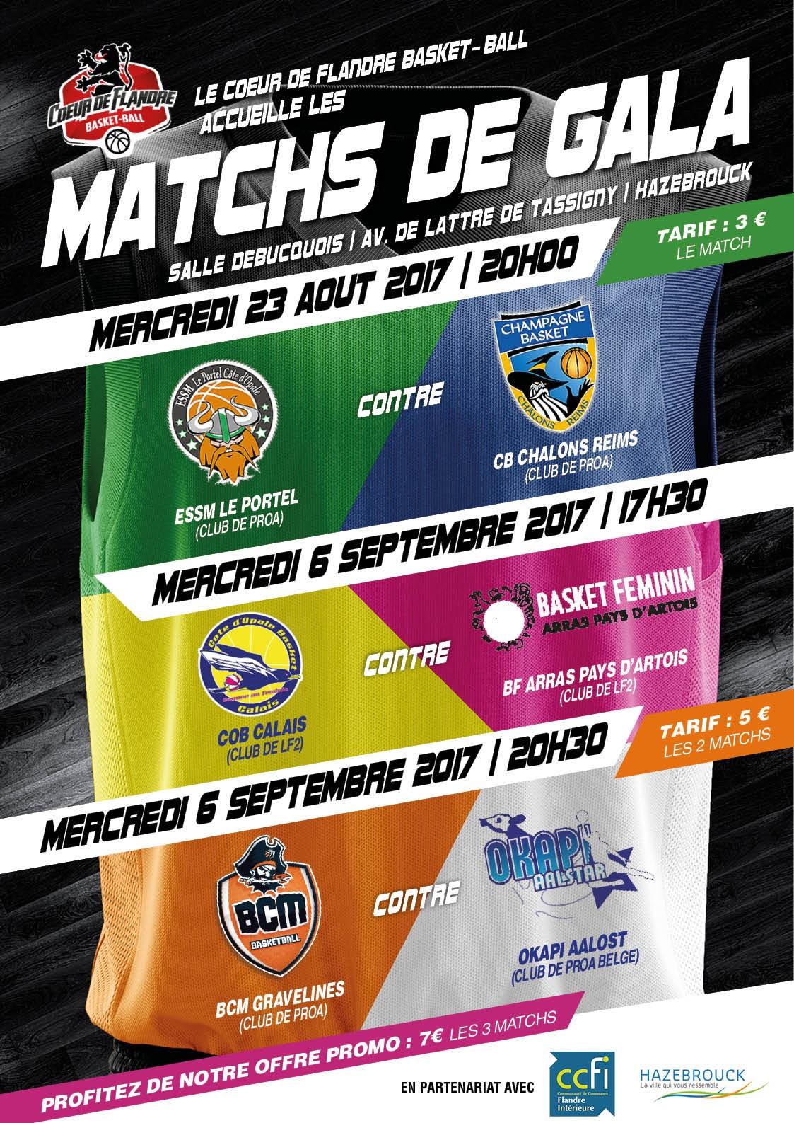 Matchs de Gala au Cœur de Flandres
