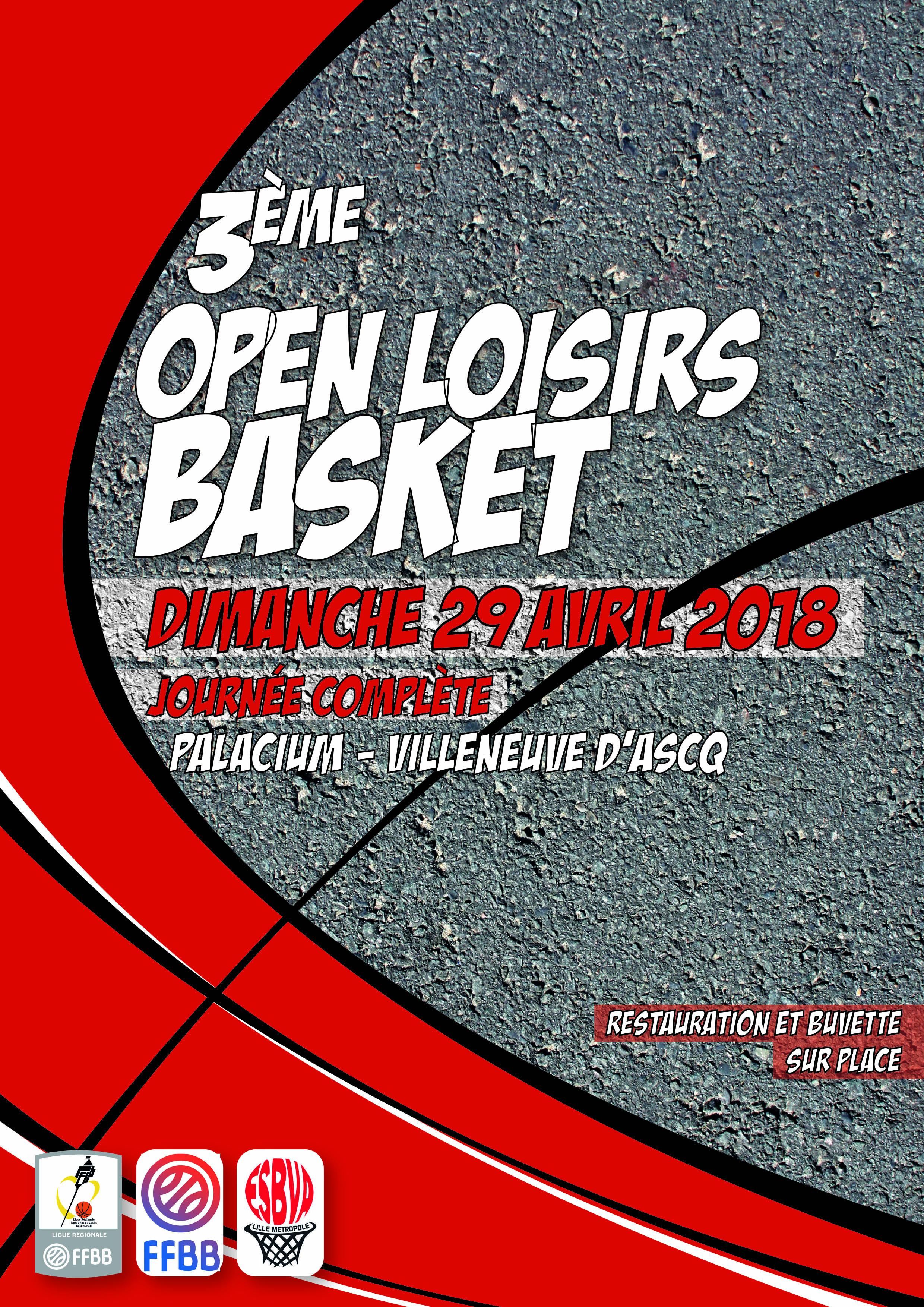 3ème Open Loisirs le 29 Avril au Palacium