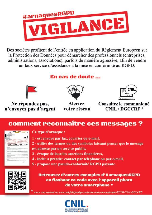 Attention ! Arnaque au RGPD