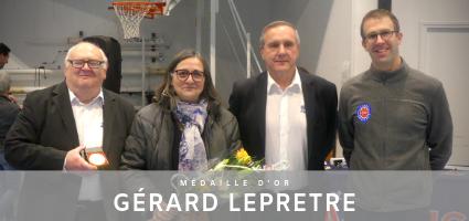 Gérard LEPRETRE récompensé de la médaille d'Or FFBB