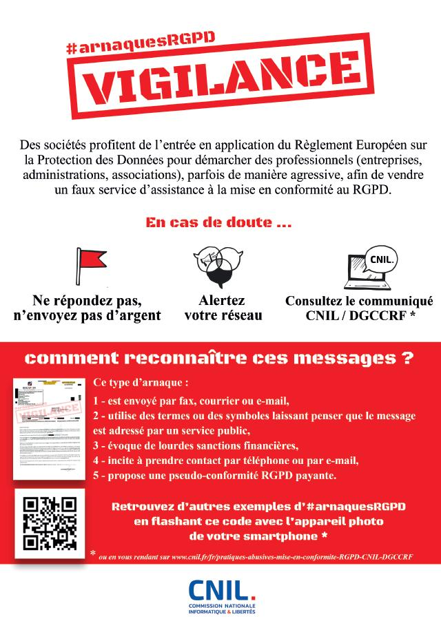 Attention ! Arnaque au RGPD