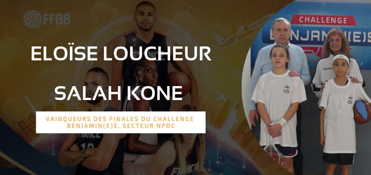 Eloïse Loucheur et Salah Kone , derniers qualifiés pour la finale du Challenge Benjamin(e)s