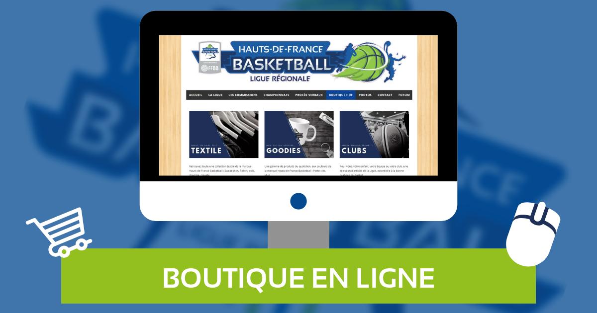 La nouvelle boutique de la marque «Hauts-de-France Basketball», est en ligne !