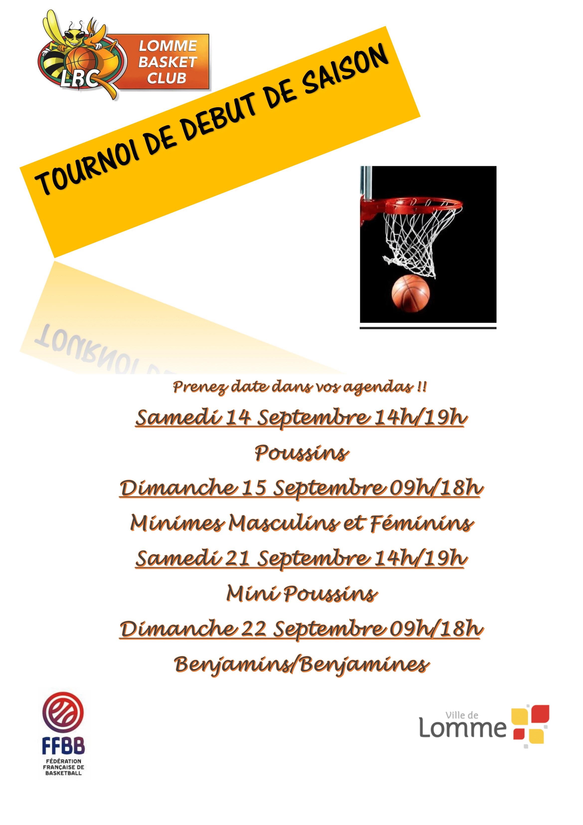 Tournoi Poussins/Minimes – Lomme Basket Club