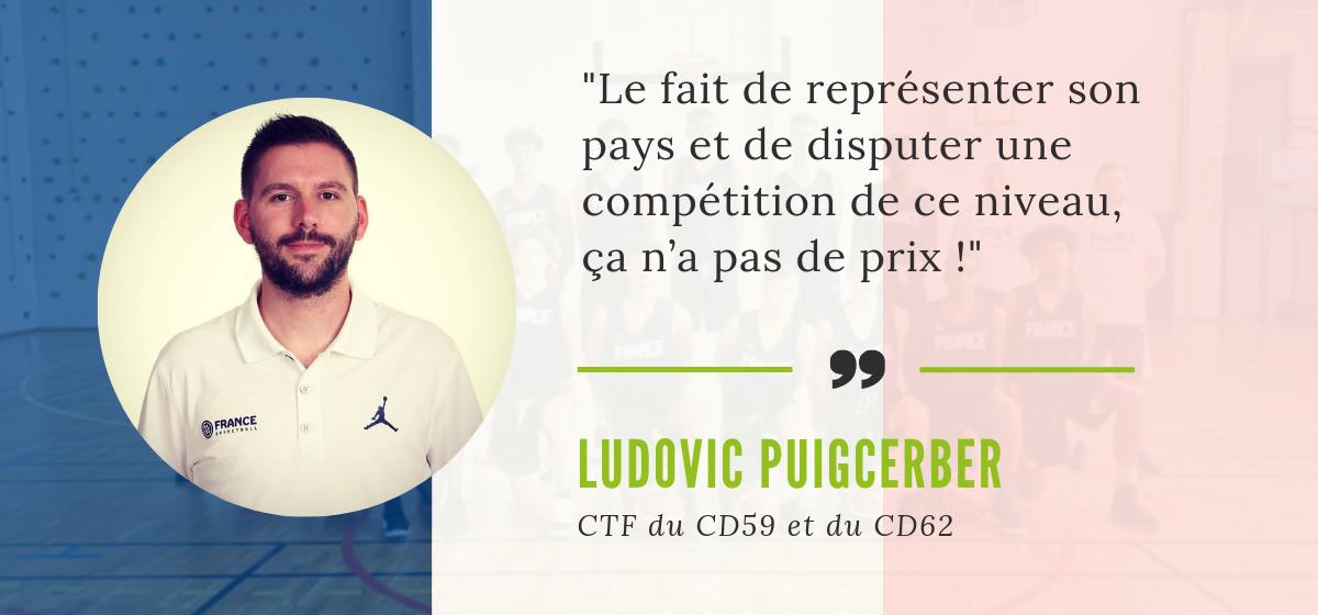 Ludovic Puigcerber, CTF du CD59 et du CD62, dans le staff de l'Equipe de France U16.