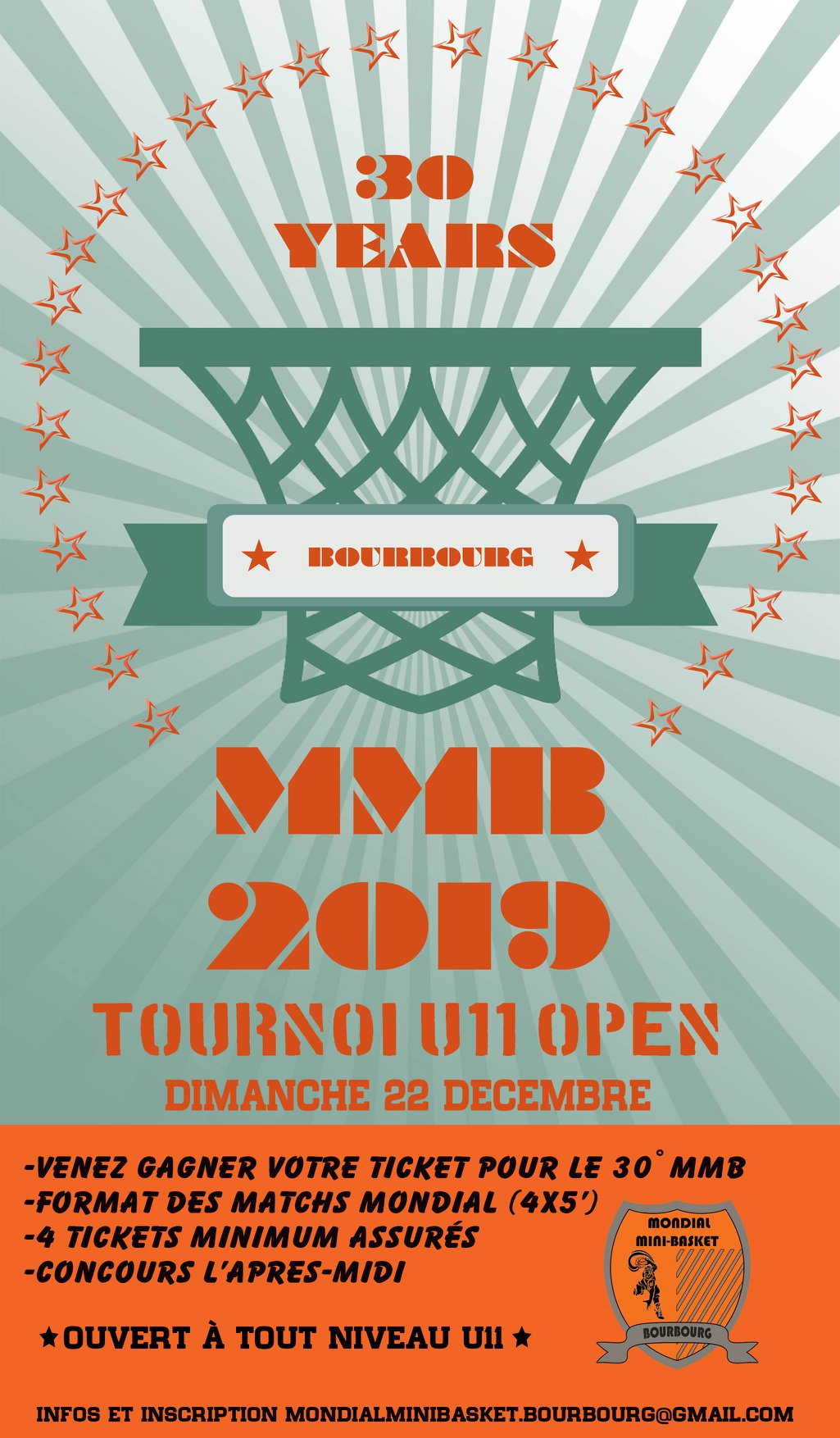 Tournoi OPEN U11 pour le 30ème Mondial Mini Basket