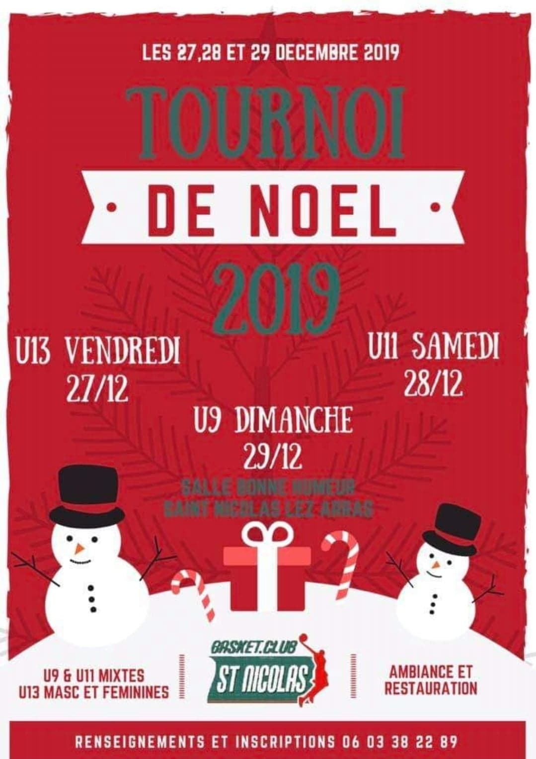 Tournoi de Noël U9/U11/U13