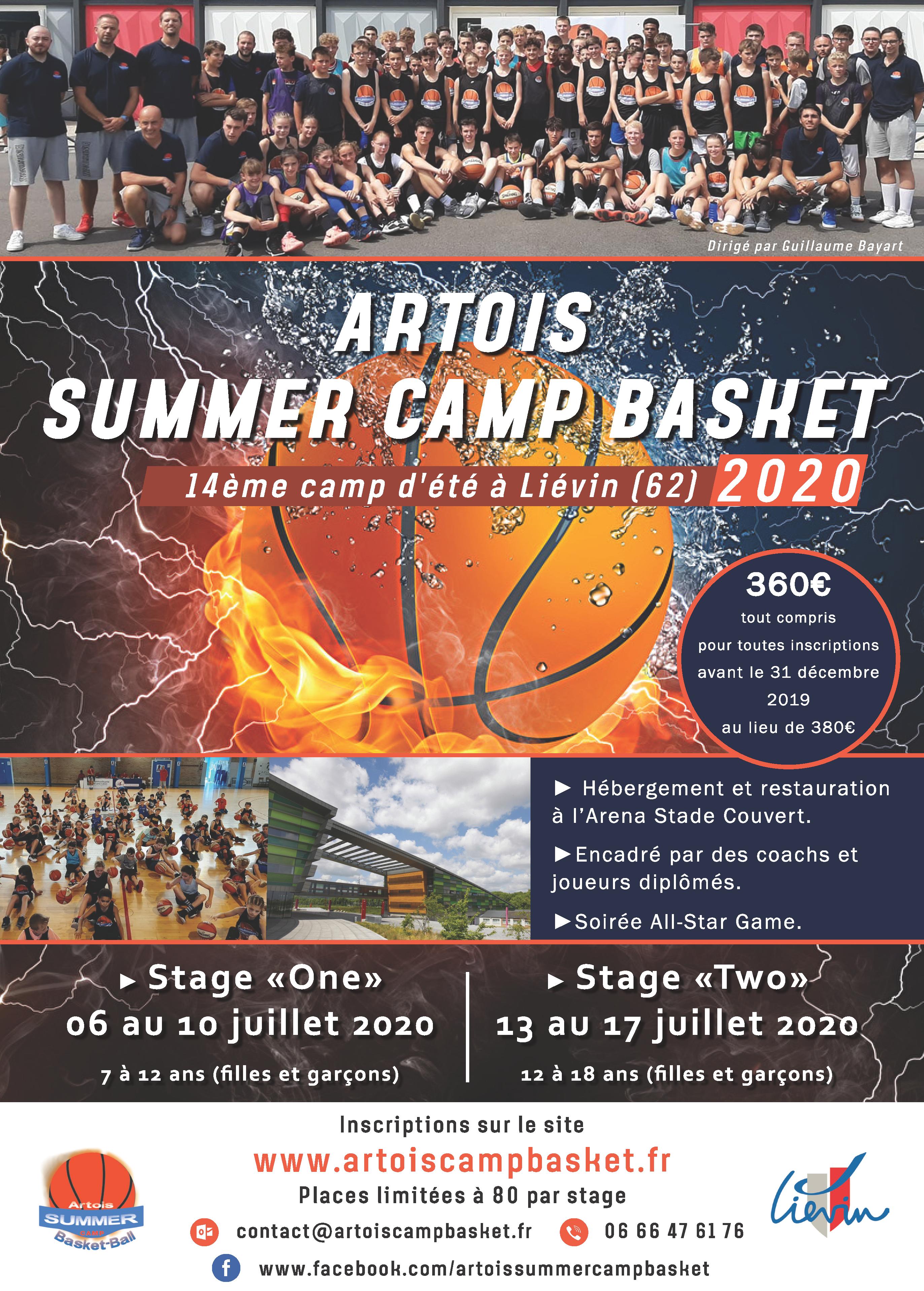 Artois Summer Camp Basket – de 7 à 12 ans