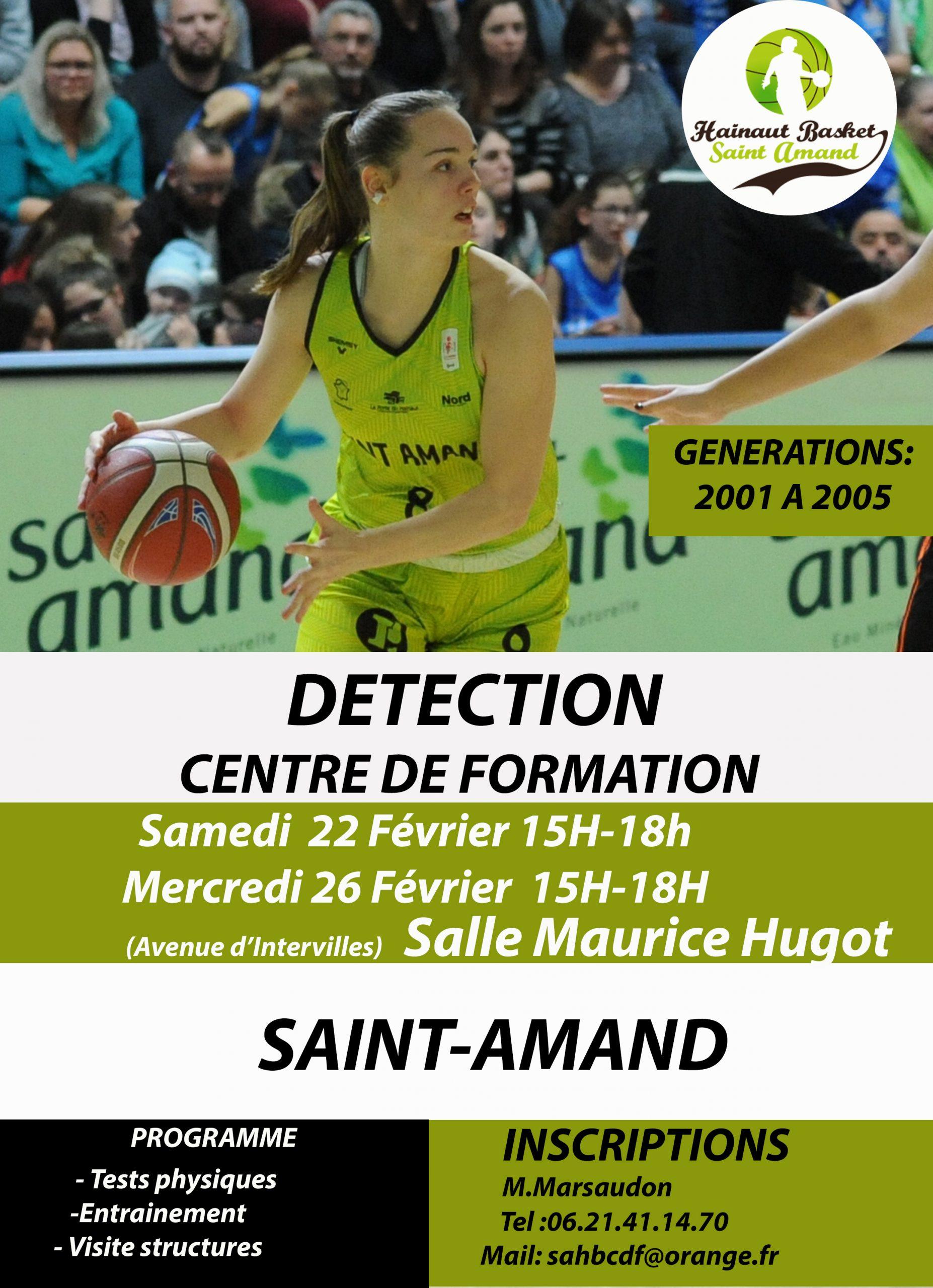 Saint-Amand Basket : Détection – Centre de Formation
