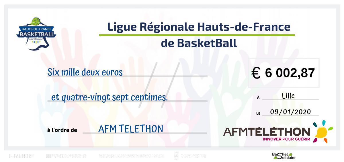 Basket Solidaire : Une somme record récoltée pour l'AFM Telethon.