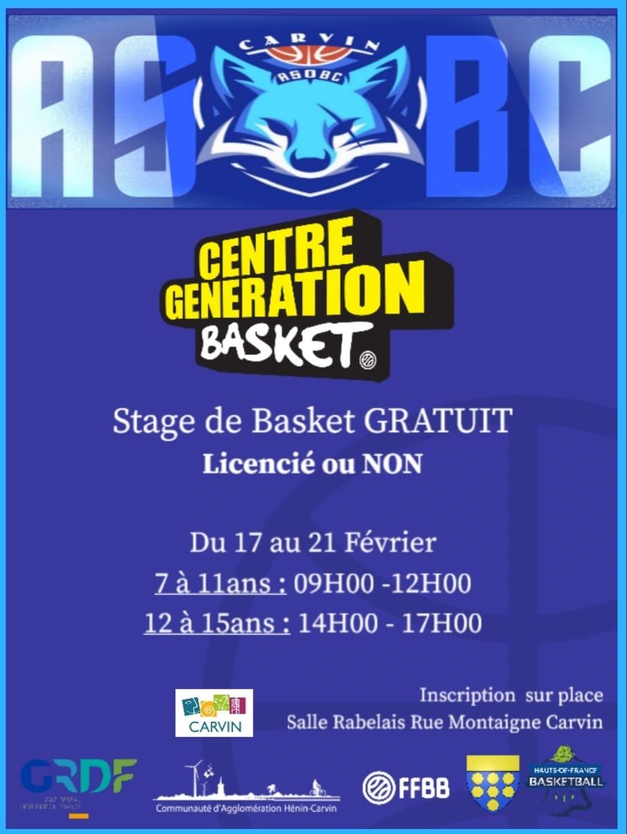 Centre Génération Basket – ASB Carvin
