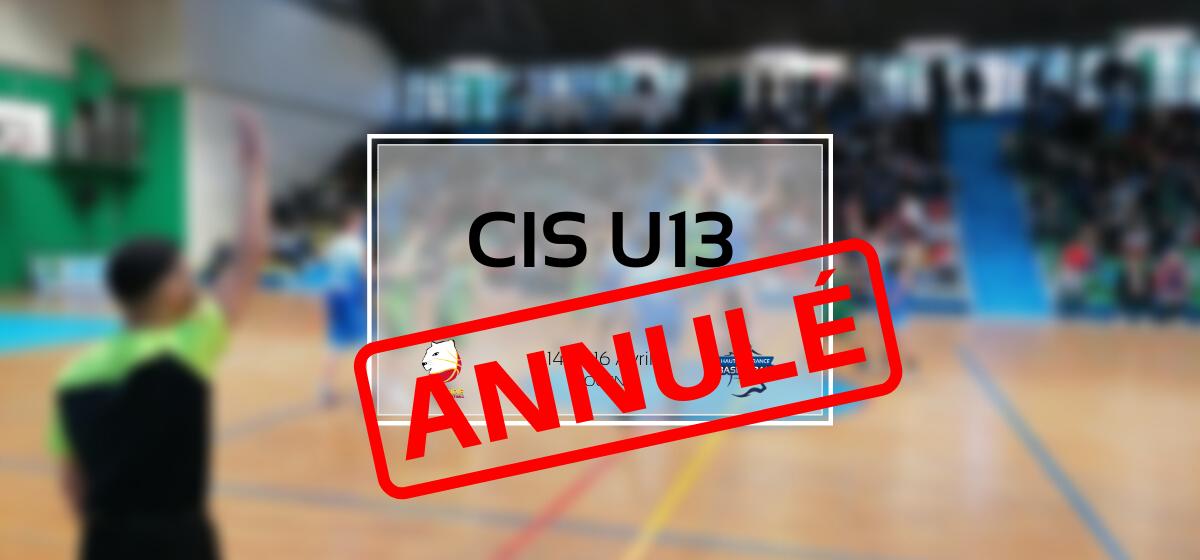 Le CIS U13 de Rouen, annulé !