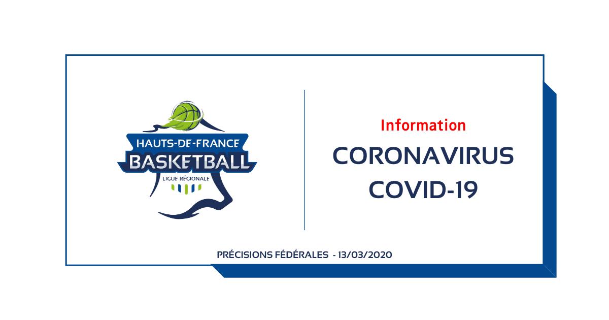 COVID-19 : Quelques précisions sur la situation actuelle – 13/03/2020