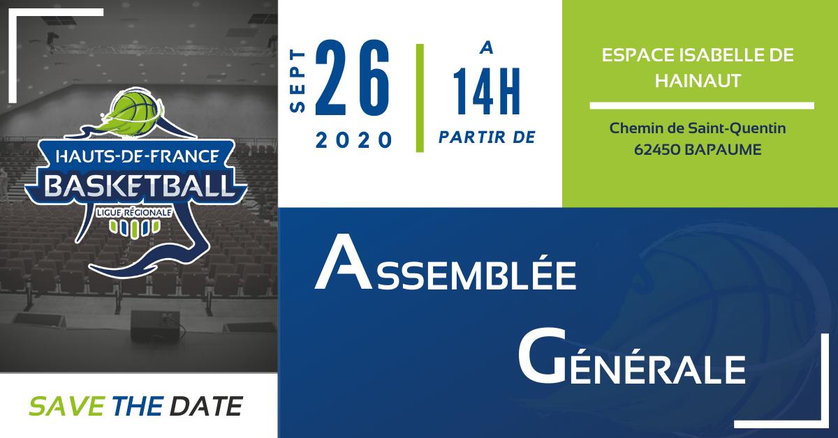 Assemblée Générale de la Ligue le 26 Septembre 2020 à Bapaume