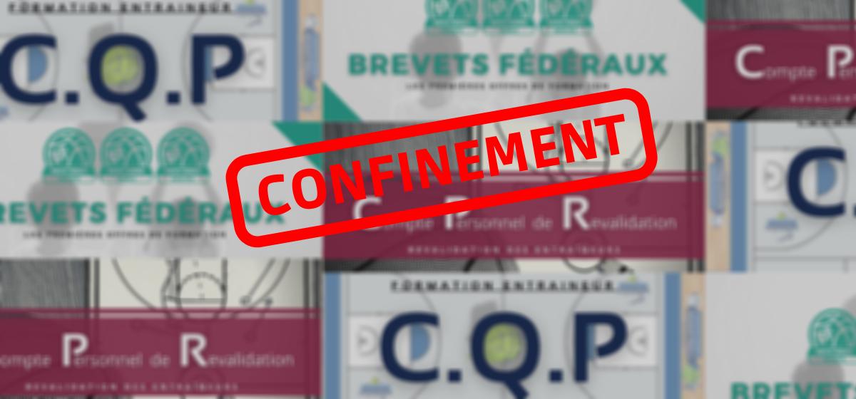 Formation des cadres (CQP, BF, CPR…) : réorganisation dû au confinement